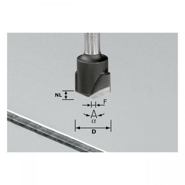 Festool V-Nutfräser HW S8 D18-135°/Alu