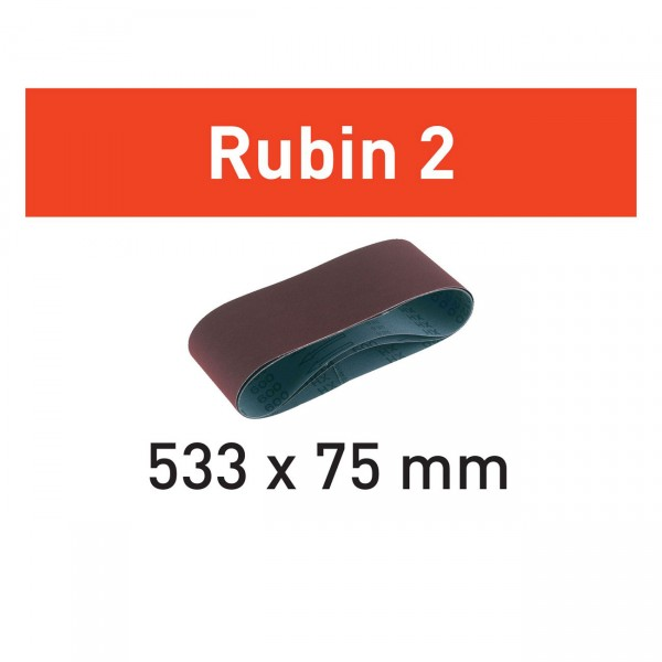 Festool Schleifband L533X 75 - Rubin 2